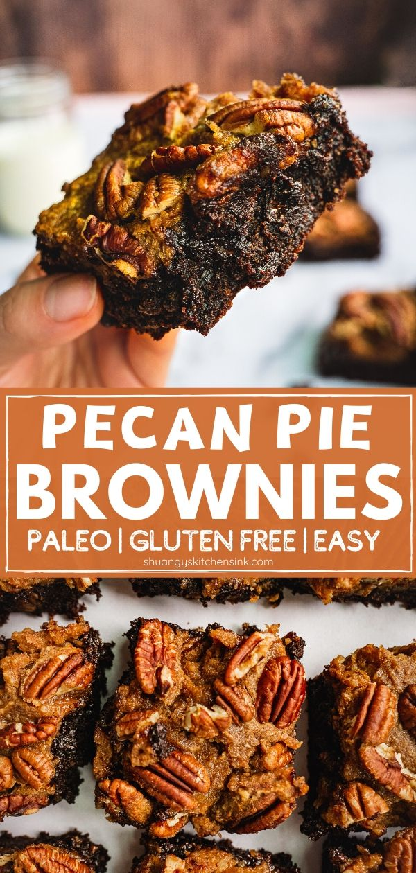 Paleo Pecan Pie Brownie (Gluten Free, Low Carb) - Shuangy's Kitchensink