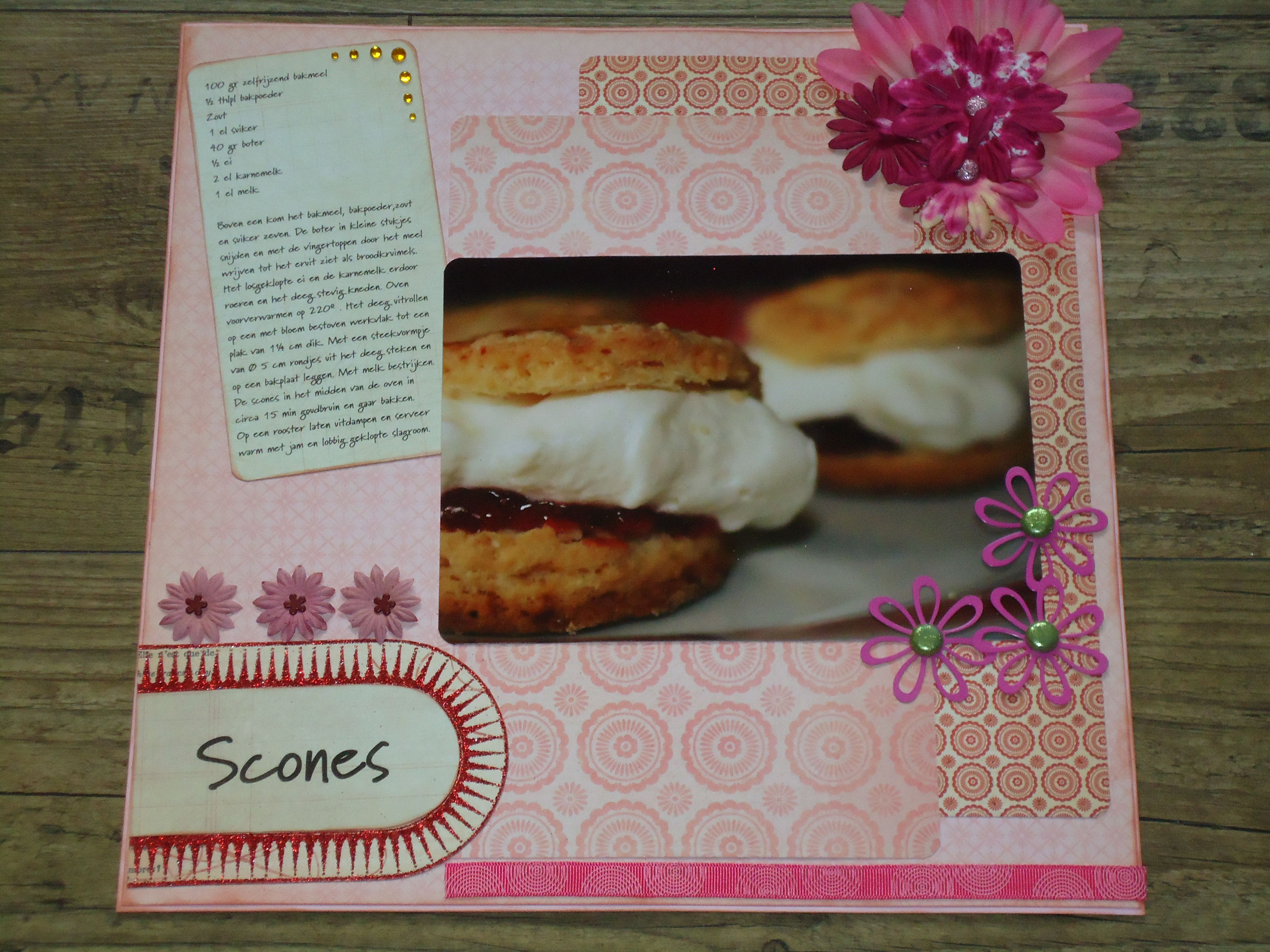 Scrapbook layout Scones