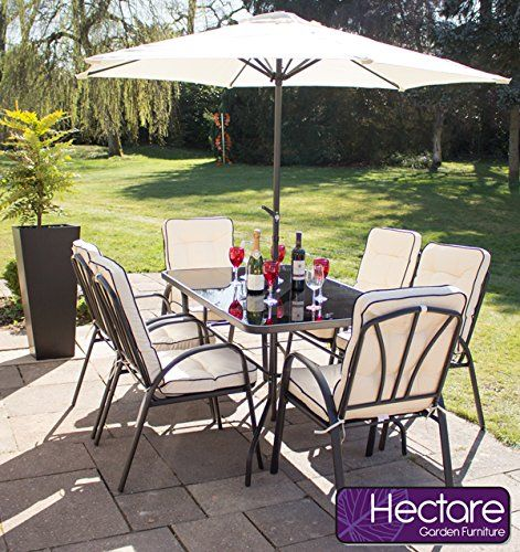 hadleigh 6 seater garden dining furniture set by hectare - Garden Furniture 6 Seater