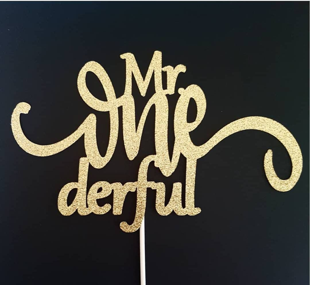 Mr onederful cake topper one cake topper boy first