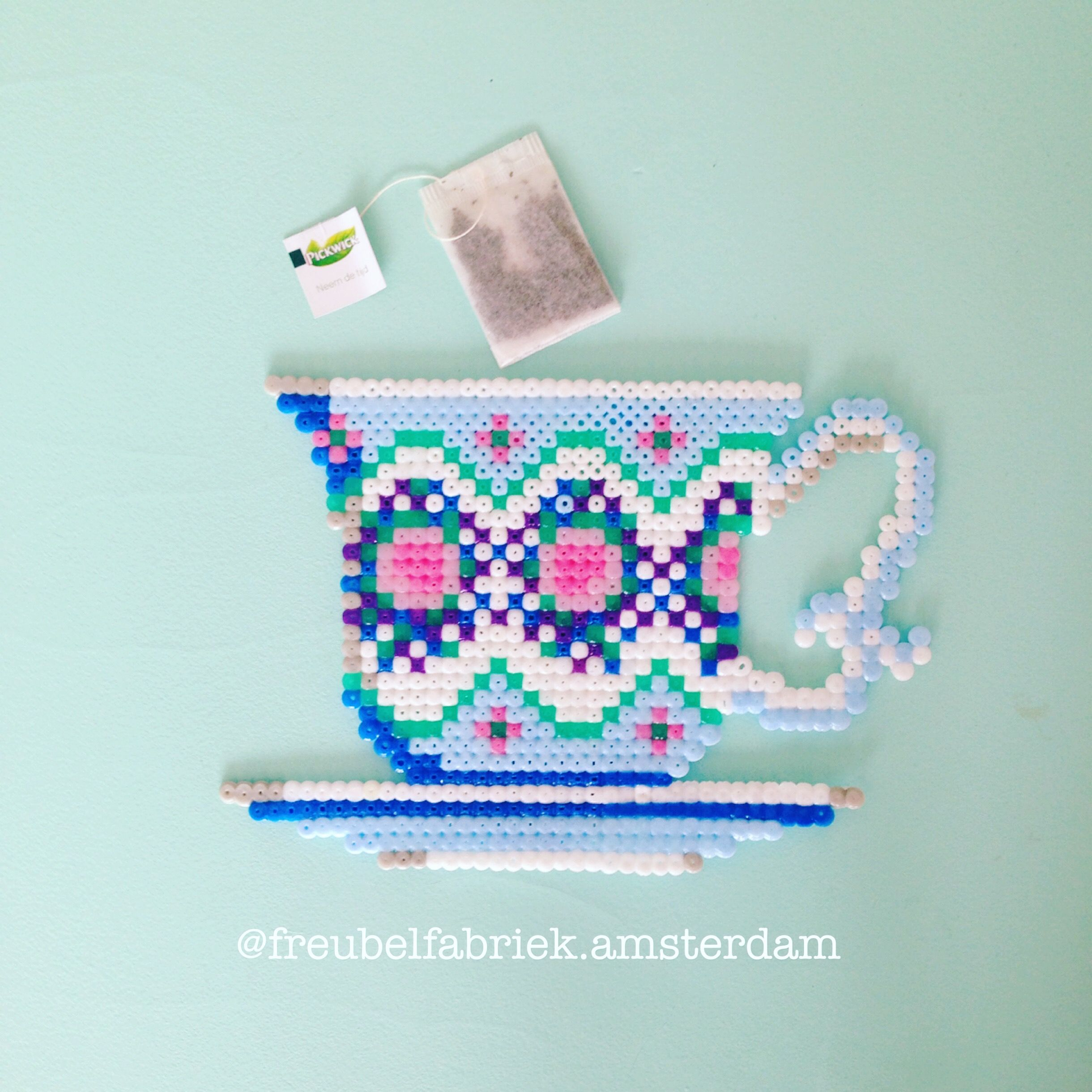 Cup of Tea. The pattern you can find on my Facebook. | Pixel art ...