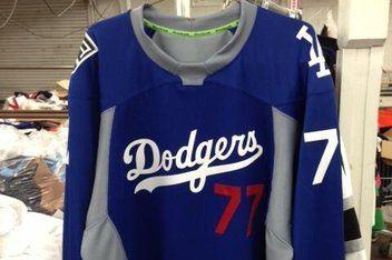 dodgers hockey jersey