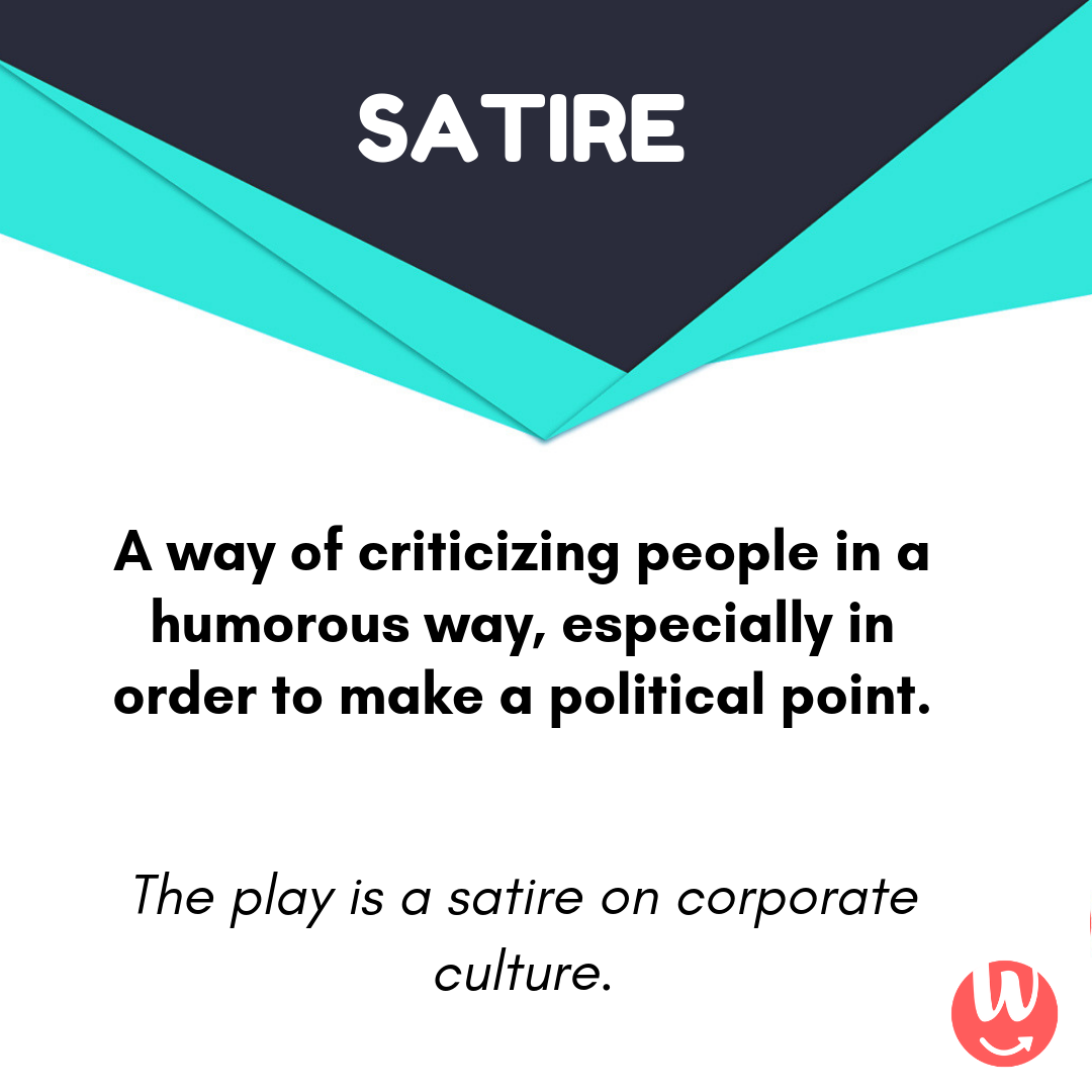 Word Of The Day Is Satire Learn A Word Daily With Word Buzz