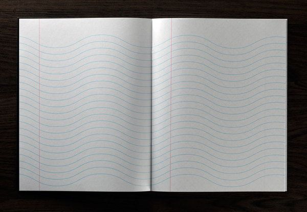 Whoever said that notebooks need straight lines? Loving these inspiration pads by Marc Thomasset.