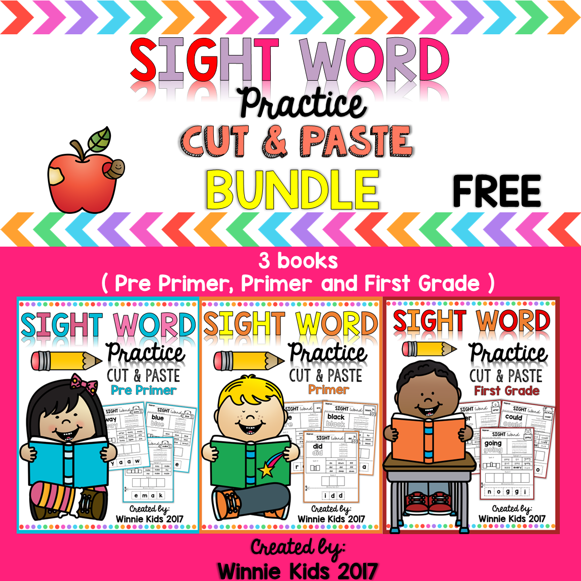 FREE 10 PAGES!!! Sight Word Practice Cut and Paste - Bundle will ...