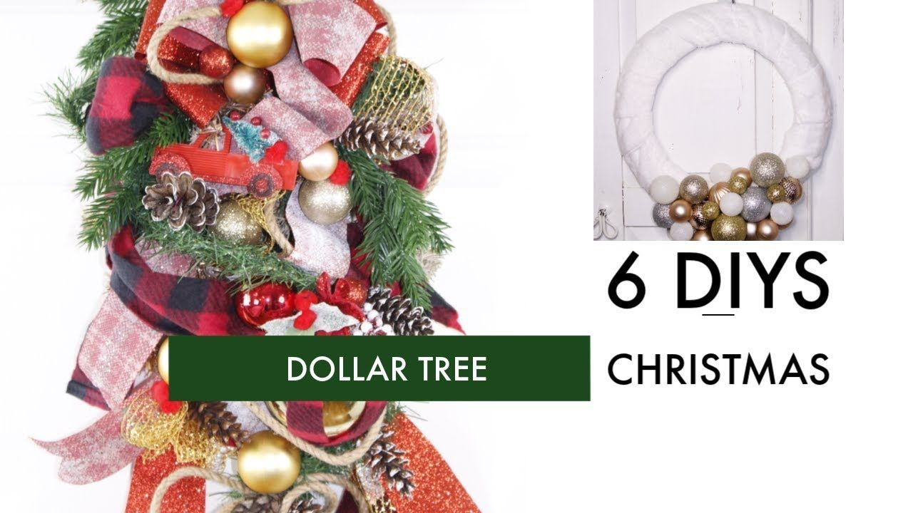 6 Diy Dollar Tree Christmas Crafts Elegant Wreath Swag Etc Youtube Christmas Crafts Decorations Dollar Tree Christmas Christmas Crafts