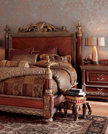 ✅ Pulaski Bellissimo king bed & nightstands from Horchow / Neiman ...
