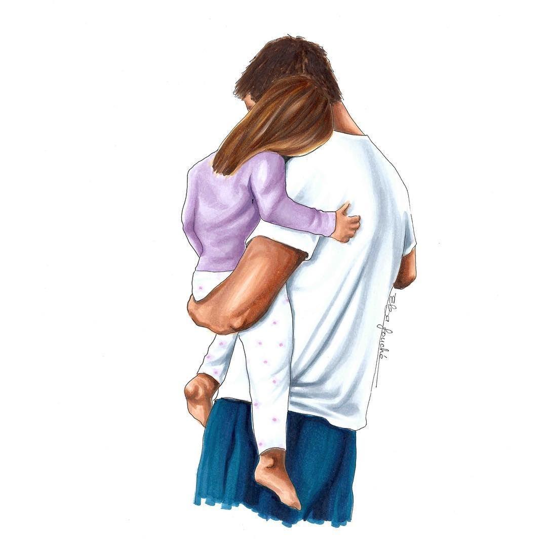 Открытки природой, папа и дочь картинки рисунки