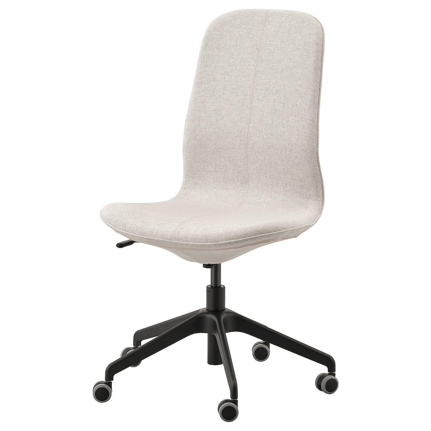 LÅNGFJÄLL Office Chair Gunnared Beige, Black