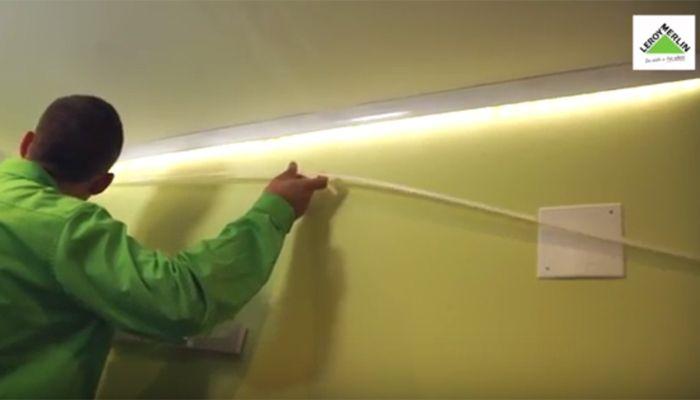 Cómo Colocar Un Rodapié Luminoso Con Tiras De Led Leroy