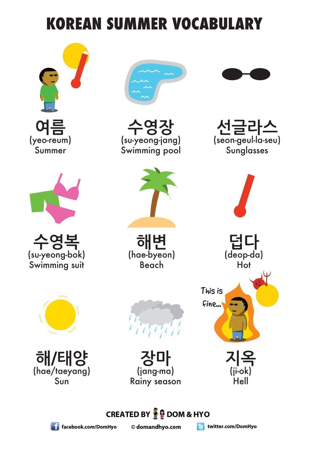 Korean Summer Vocabulary