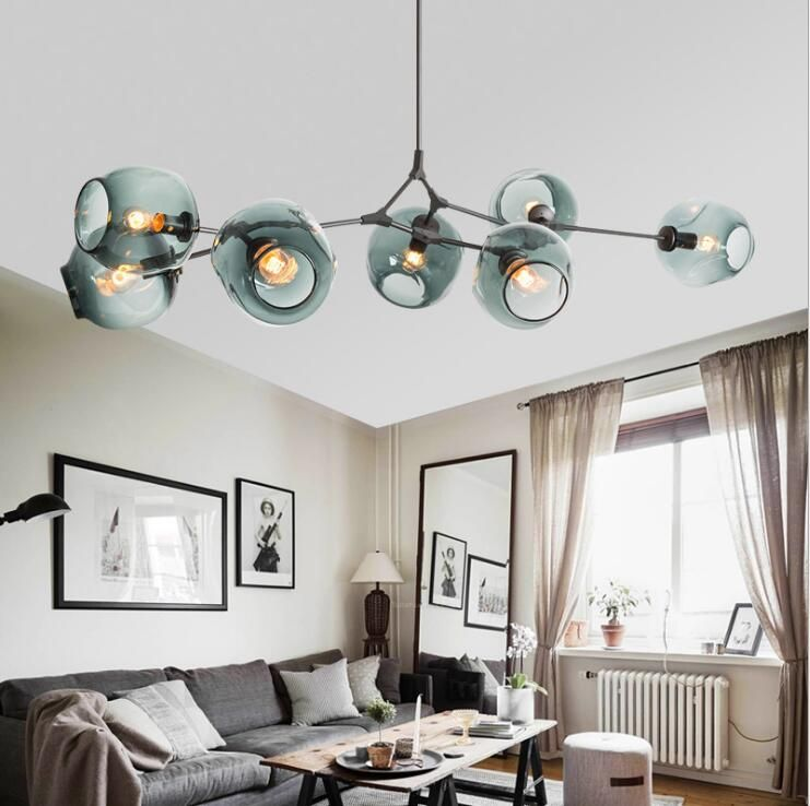Nordic LED Novelty Glass Bubble Chandelier Modern Dining