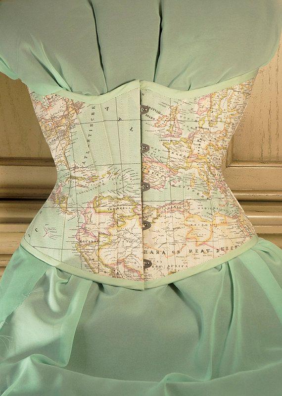 M16 galaxy corset corset pastels and bodies m16 galaxy corset map fabricsteampunk piratepastel mintworld gumiabroncs Images