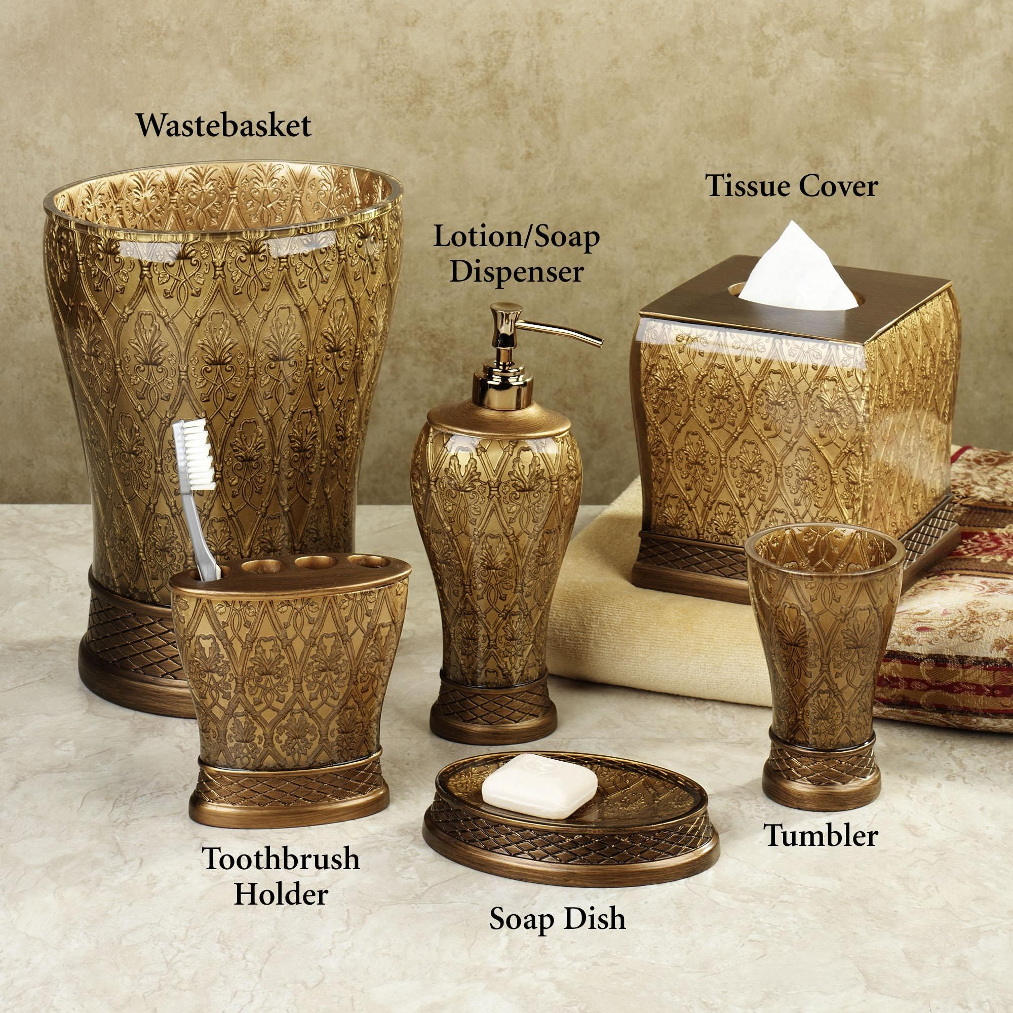 Gold Bathroom Accessories Part 9 Croscill Loaisfouad Pinterest