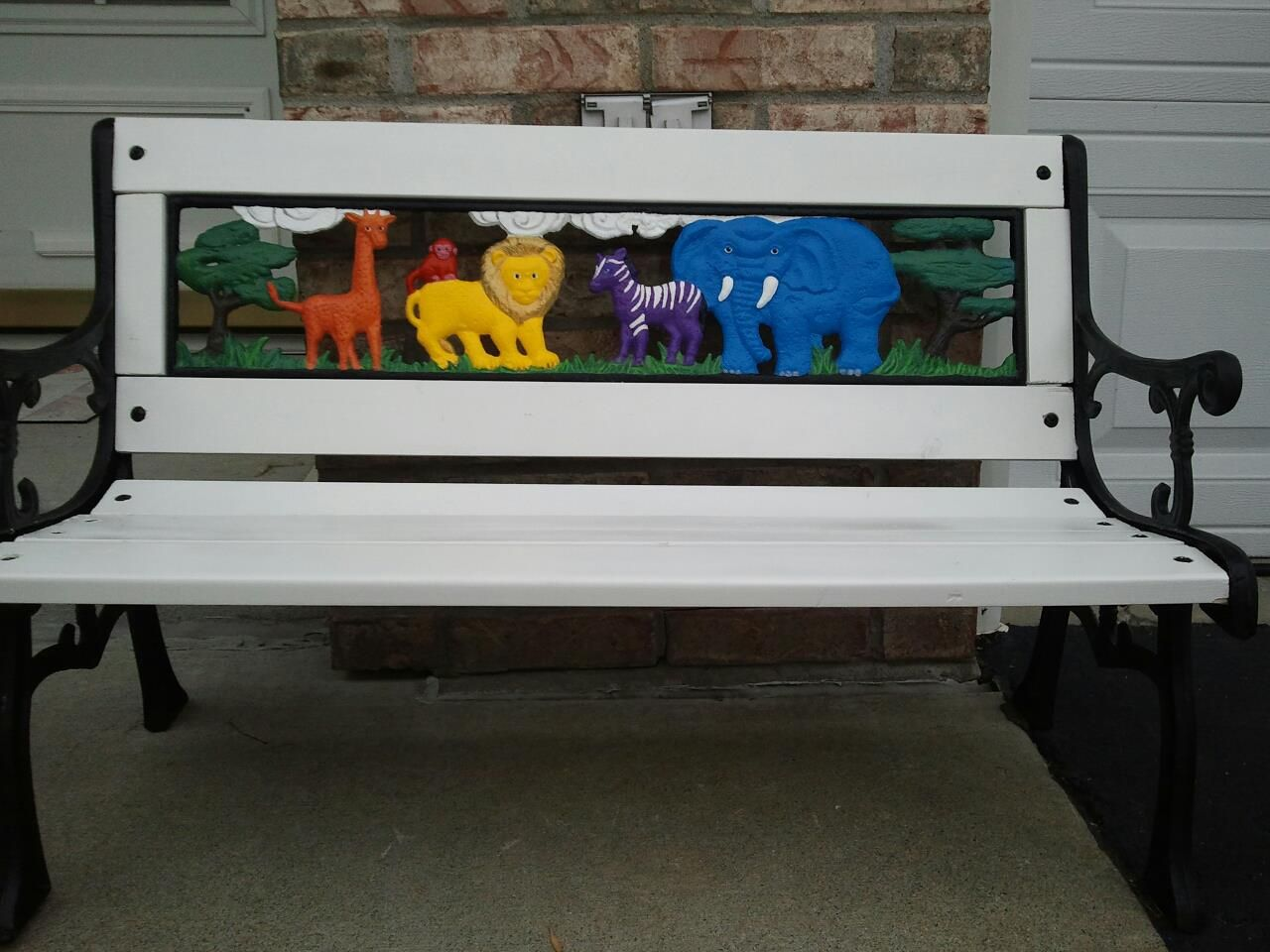Darling Hand Painted Kid S Zoo Animal Bench By Jessica Children S Furniture Kids Zoo Zoo Animals Animals For Kids