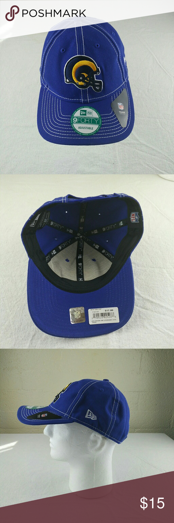 best service 163d9 bcd50 Los Angeles Rams NEW Era 9forty Adjustable Cap Los Angeles Rams NEW Era  9forty Adjustable Cap Brand New. Never been worn. New Era Accessories Hats
