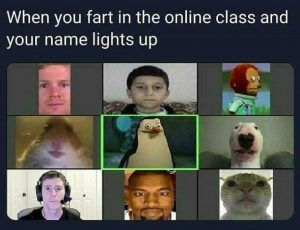 When You Fart In Online Class