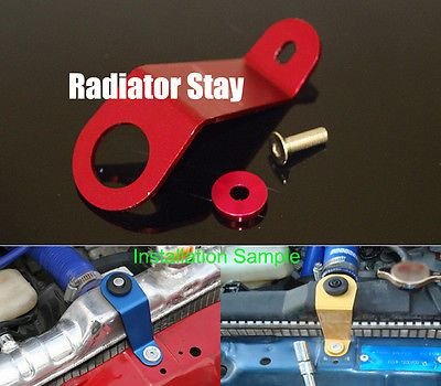 Aluminum Radiator Stay Bracket w// Washer For Honda 92-95 CIVIC EG Red