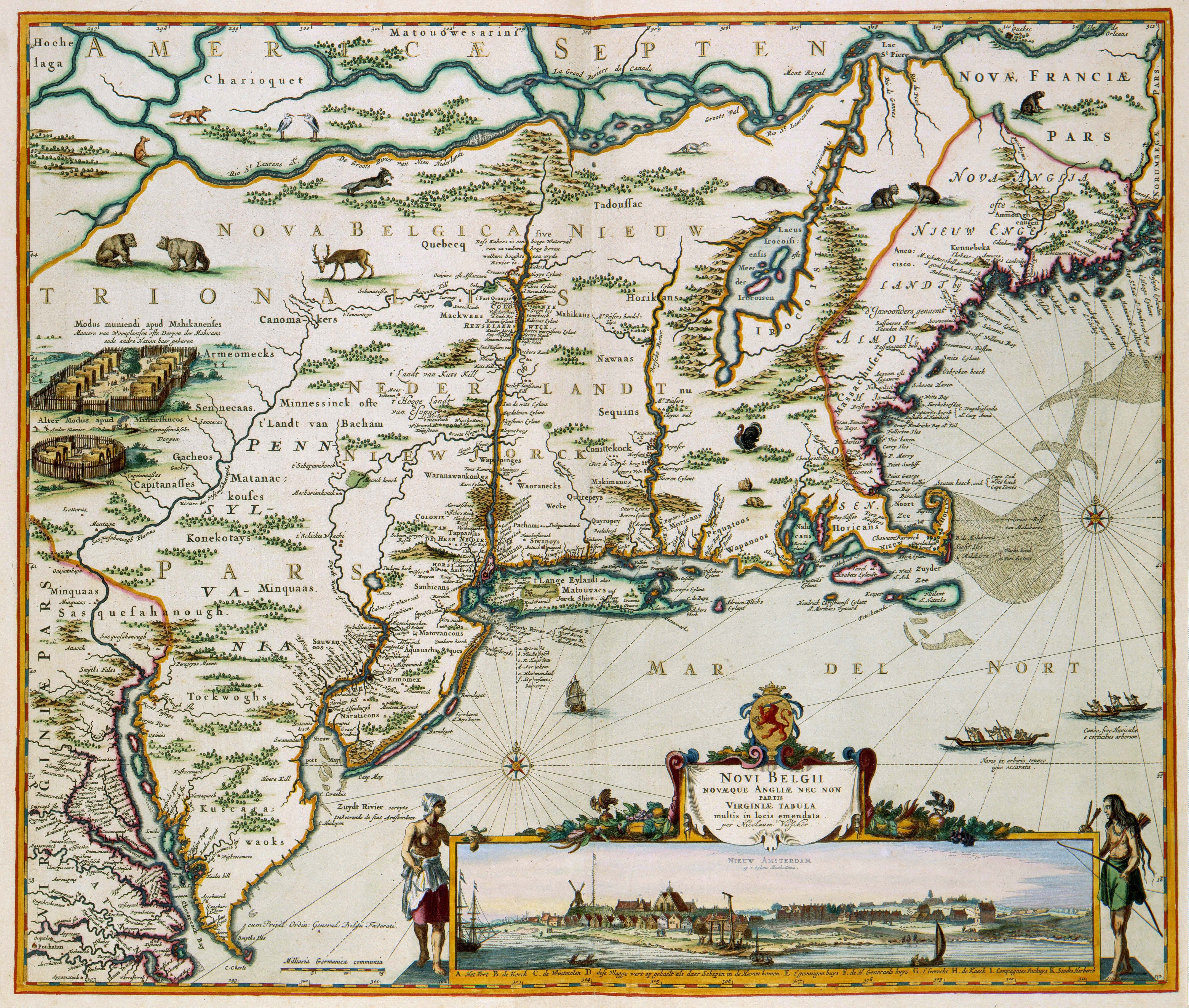 The North American Colony of New Netherland in the 17th Century
