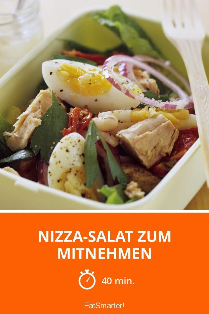 nizza salat zum mitnehmen rezept salat salat salat rezepte und nizza salat. Black Bedroom Furniture Sets. Home Design Ideas
