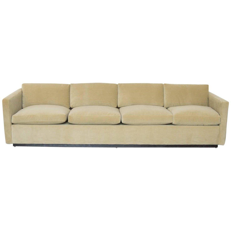 Donghia Mohair Mid Century Modern Tuxedo Couch Sofa Modern Home