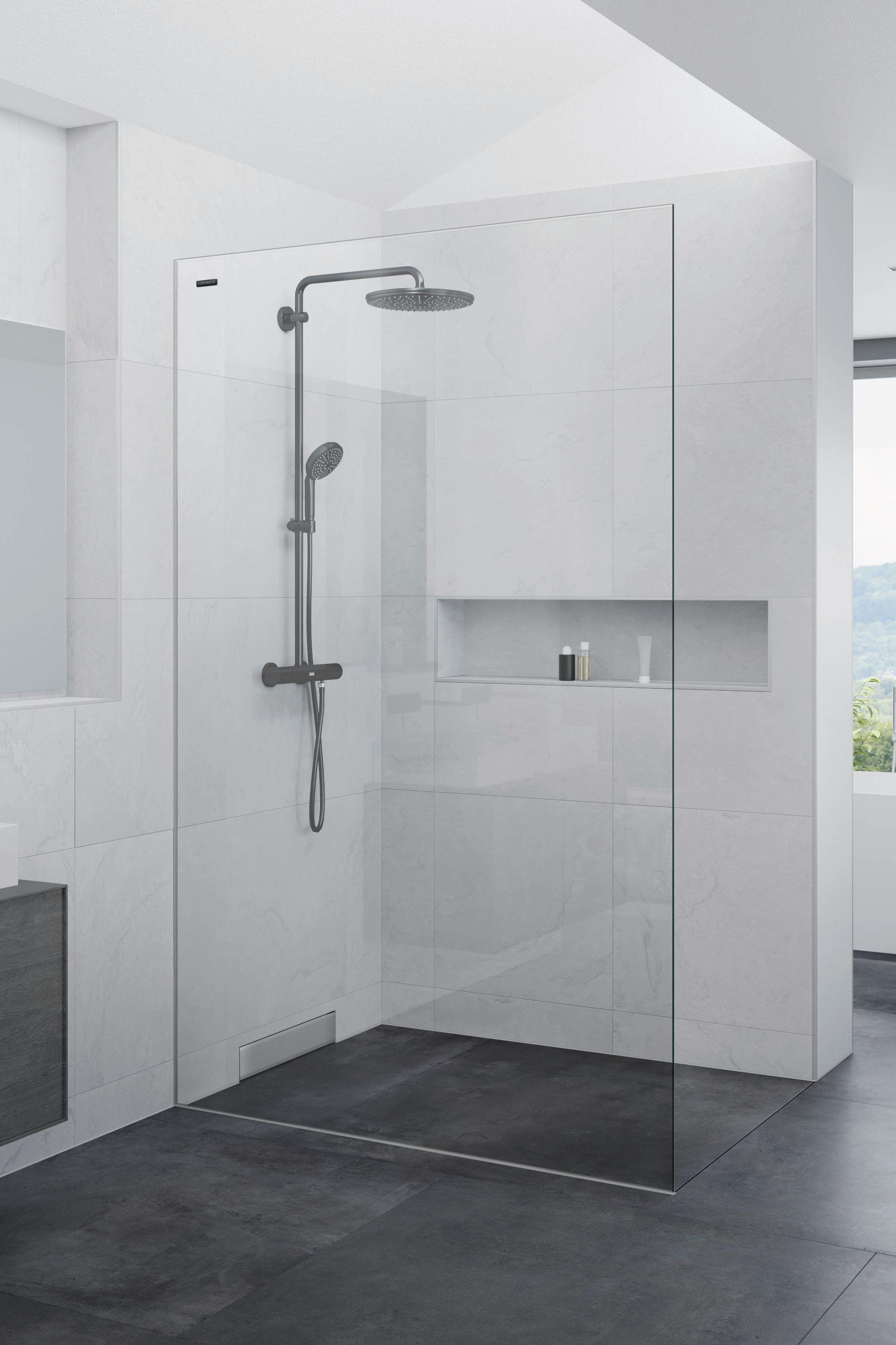 43+ Dusche mit 3 waenden Sammlung