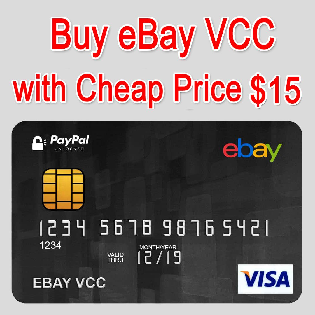 Buy Ebay Vcc For 15 Virtual Credit Card Things To Sell Business Customer