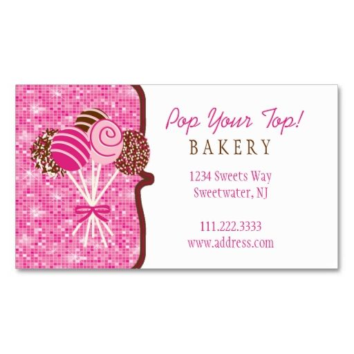 Make your own bakery business cards choice image card design and cake pops bakery business card bakery business cards bakery cake pops bakery business card make your reheart Choice Image