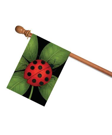 Ladybug Outdoor Flag #zulily #zulilyfinds