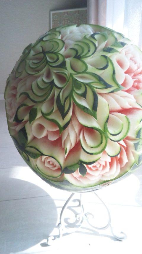 フルーツカービングfood garnish fruit carving work beautiful