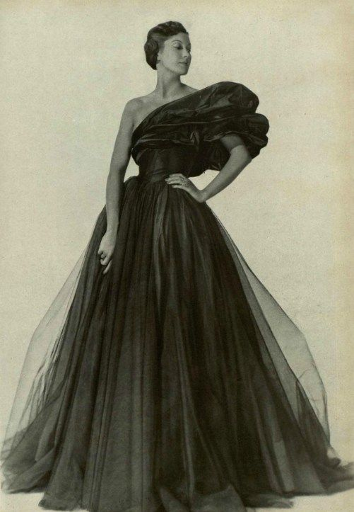 Evening Gown By Marcelle Chaumont 1948 Vintage Gowns Womens Fashion Vintage Vintage Fashion Photography
