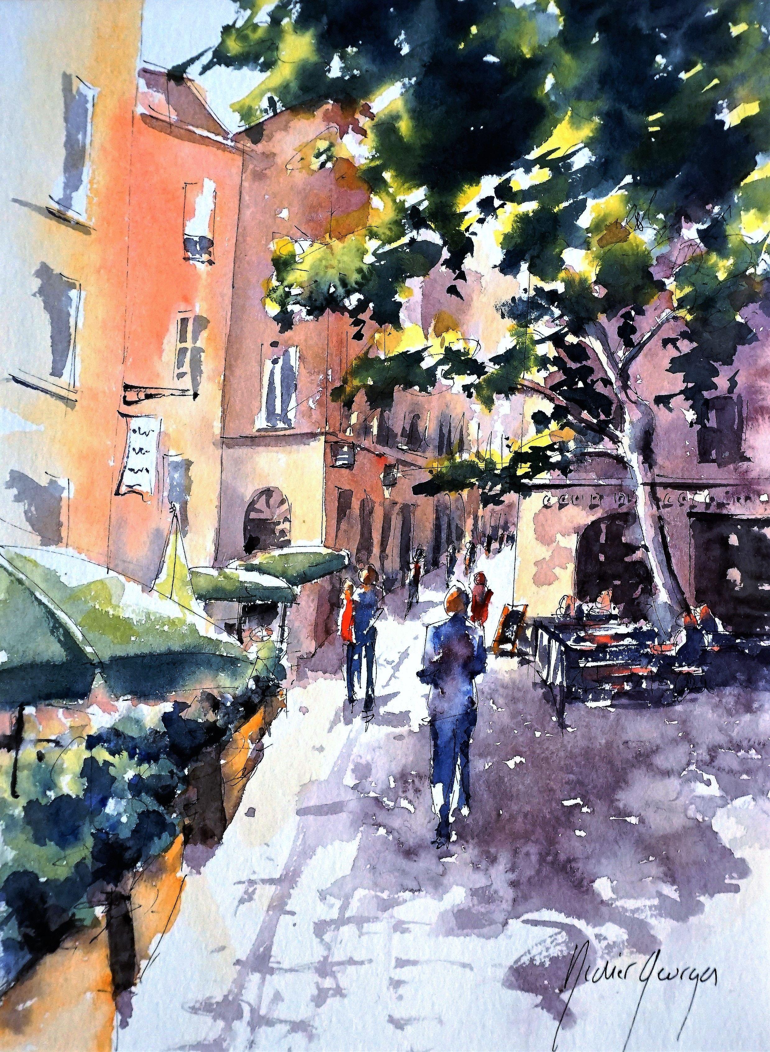 Vieux Lyon Croquis Aquarelle De Didier Georges Photo Peinture