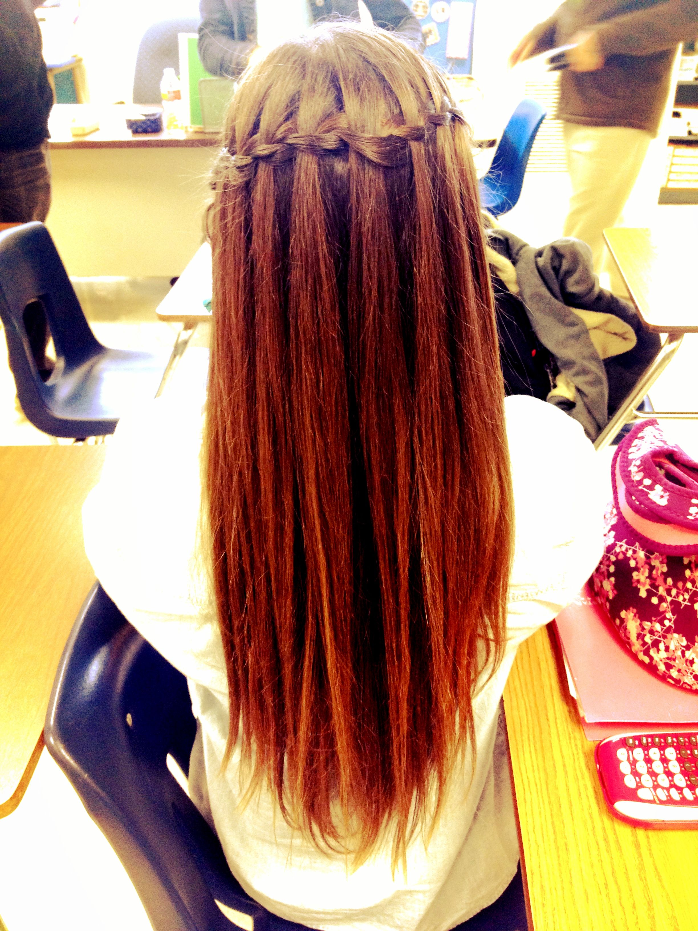 Waterfall braid @Samantha Lynn | Hair styles