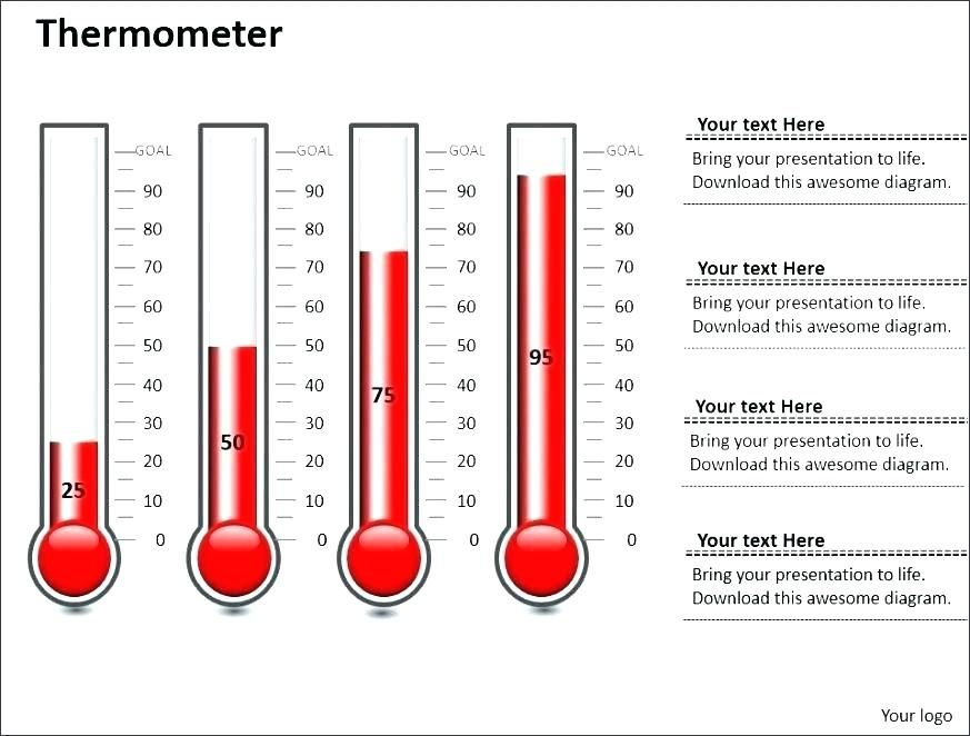 Thermometer Goal Chart Excel Template Download Inspiring Photos