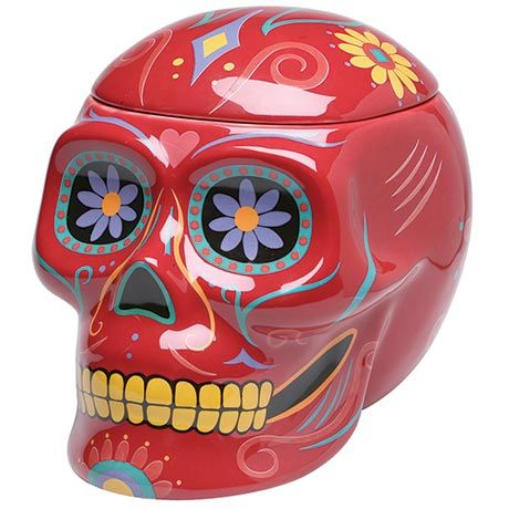 DAY OF THE DEAD COOKIE JAR, $40