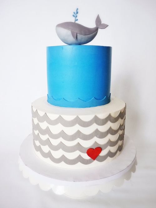 cake buttercream and whale image Baby Shower Pinterest Cake