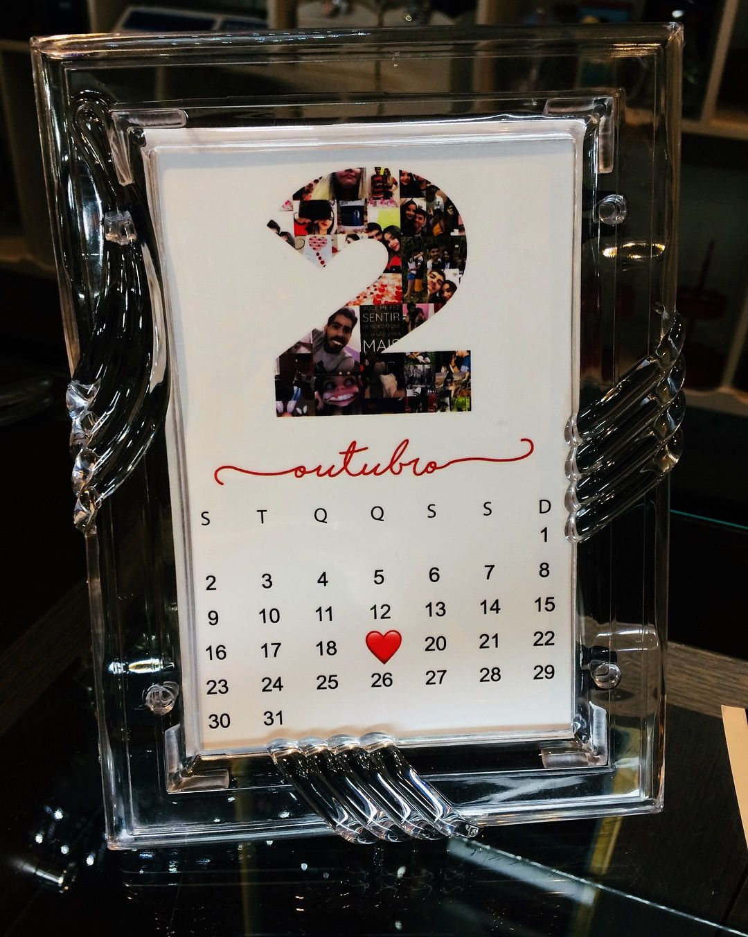 Calendario Romantico Simbolizando 2 Anos De Namoro No Dia 19 De