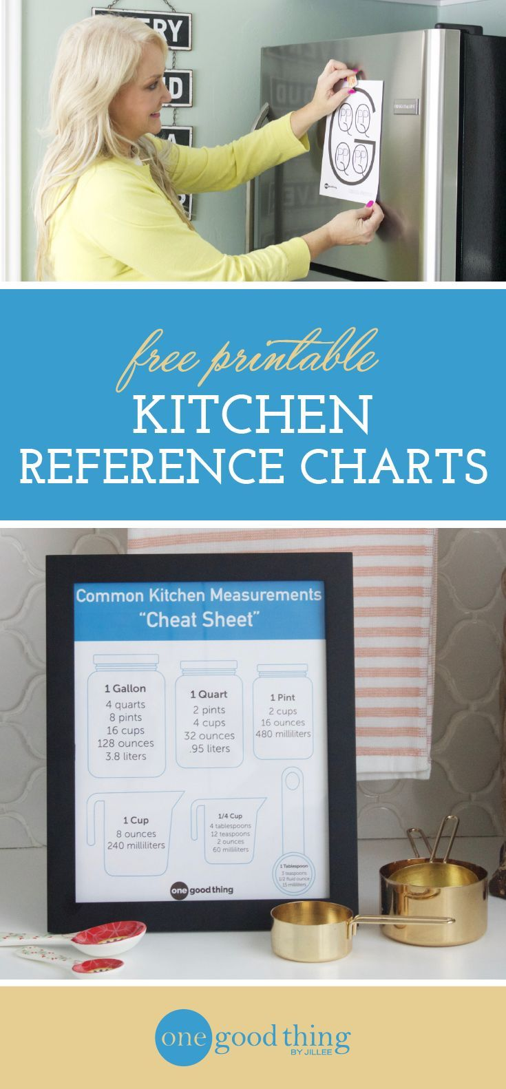 Keep Measurements On Hand w/ this Kitchen Conversion Chart | The ...