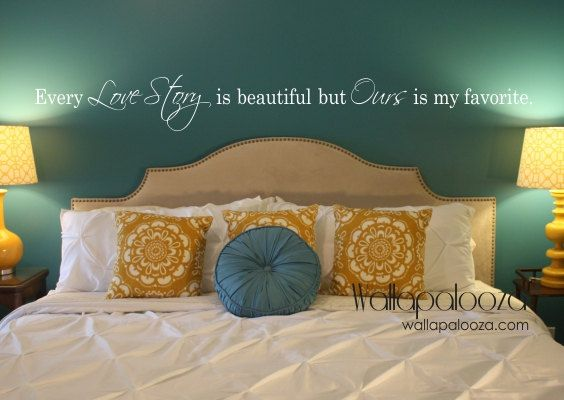 Every Love Story Is Beautiful Wall Decal   Master Bedroom Wall Decal   Love Wall  Decal   Love Story   Wall Decal