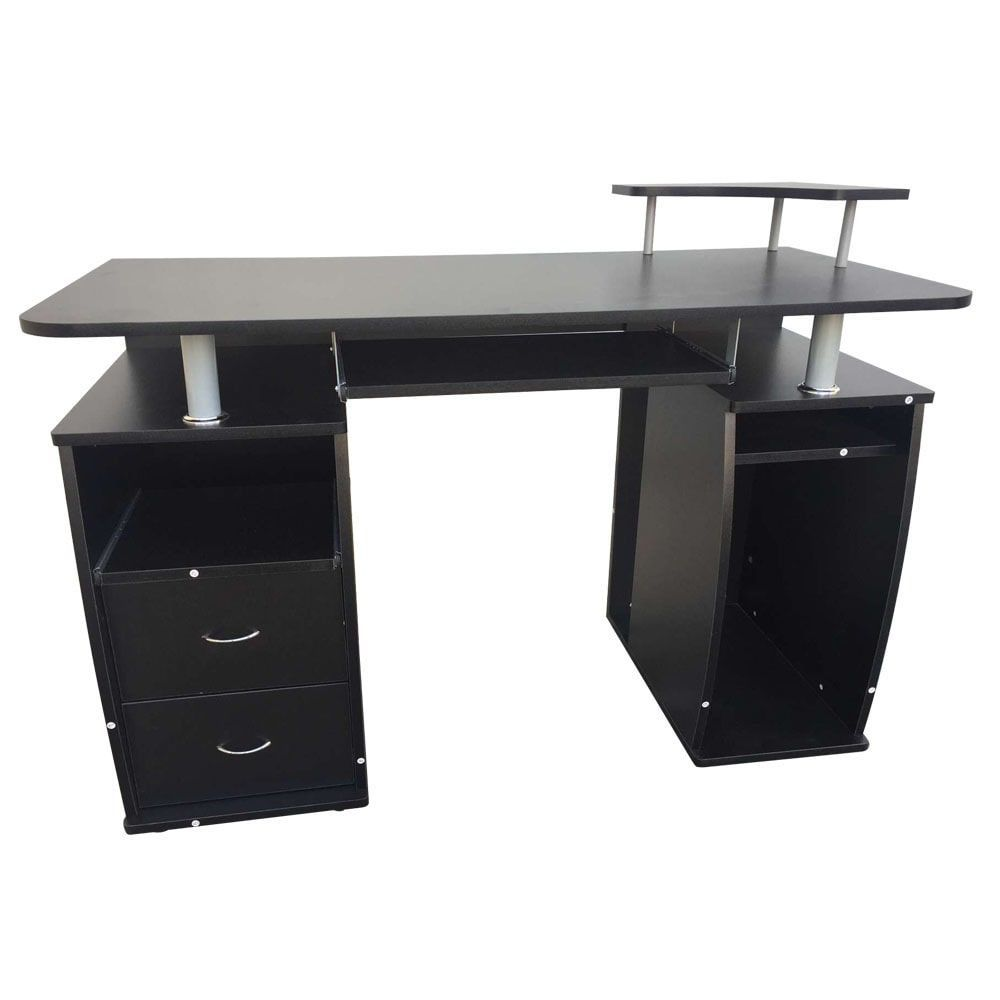 integrated melamine board computer desk with drawers melamine rh pinterest com