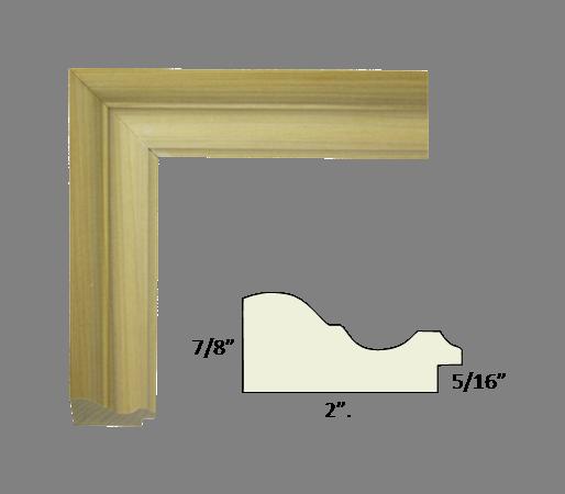 Unfinished Picture Frame Moulding - Buy online - poplar, basswood ...