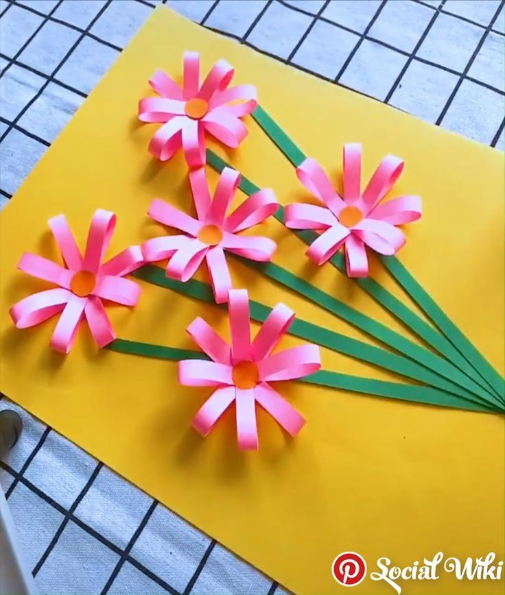 Amazing Paper Craft Ideas For Kids Amazing Craft Ideas Kids Paper With Images Hand Crafts For Kids Paper Crafts For Kids Flower Crafts
