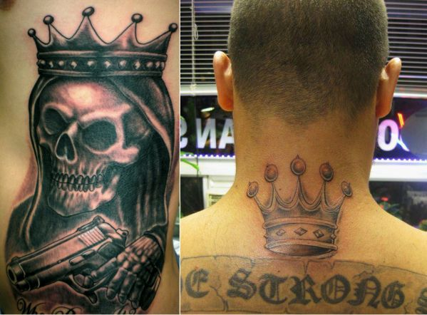 Five point crown latin kings gang el jefe 360 for Five points tattoo