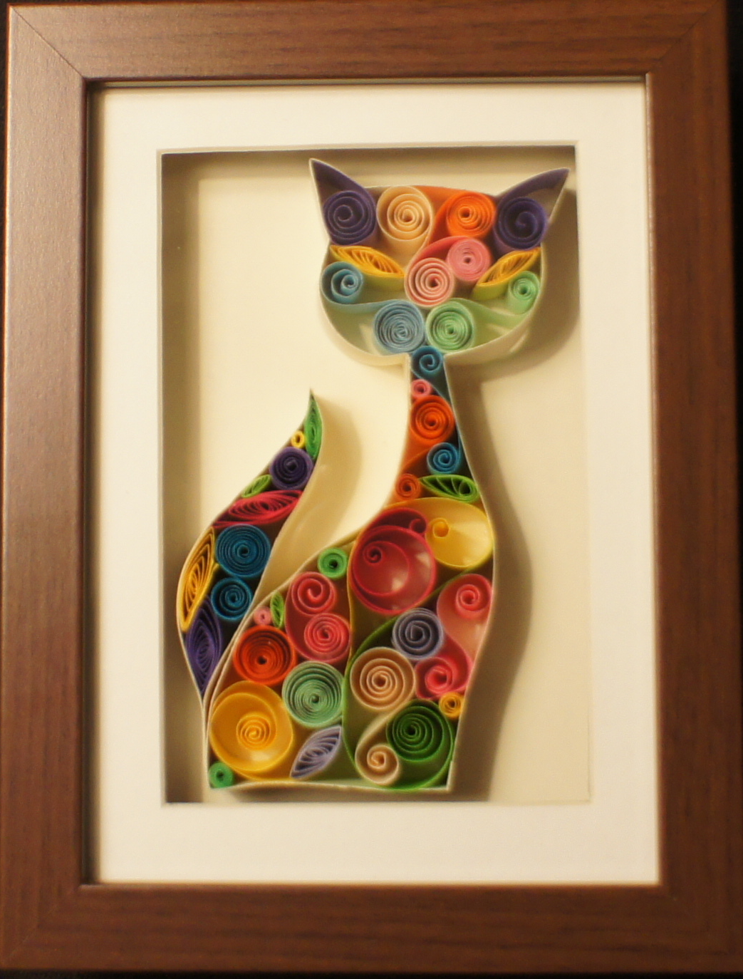 """""""Picasso's Cat""""   This quilling is created and designed by SenaRuna, please just like/share them and create your own way:)"""