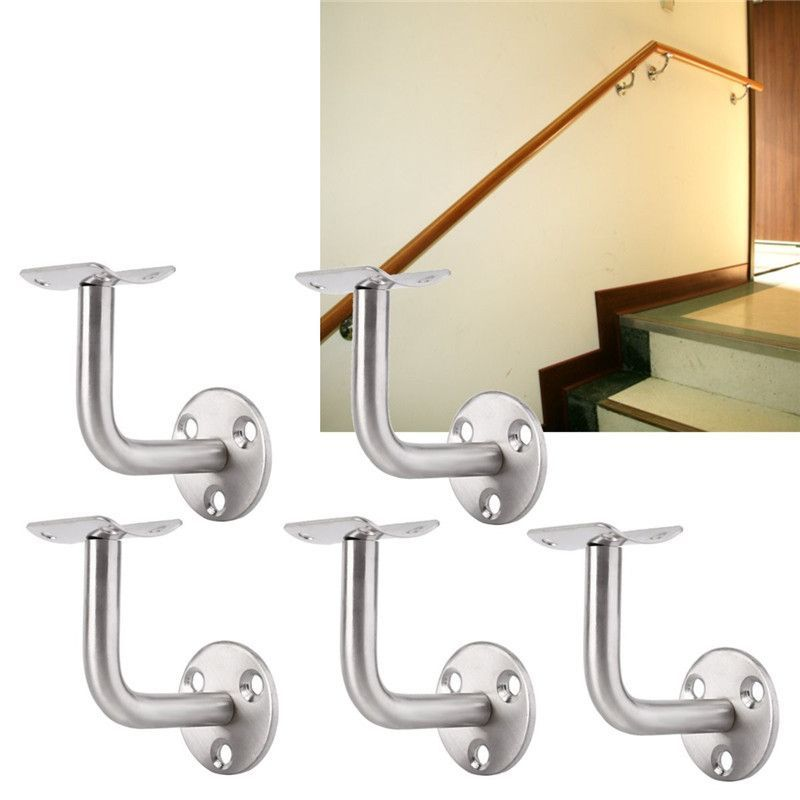 Best 5Pcs Wall Brackets Brushed Stainless Steel Handrail Stair 400 x 300