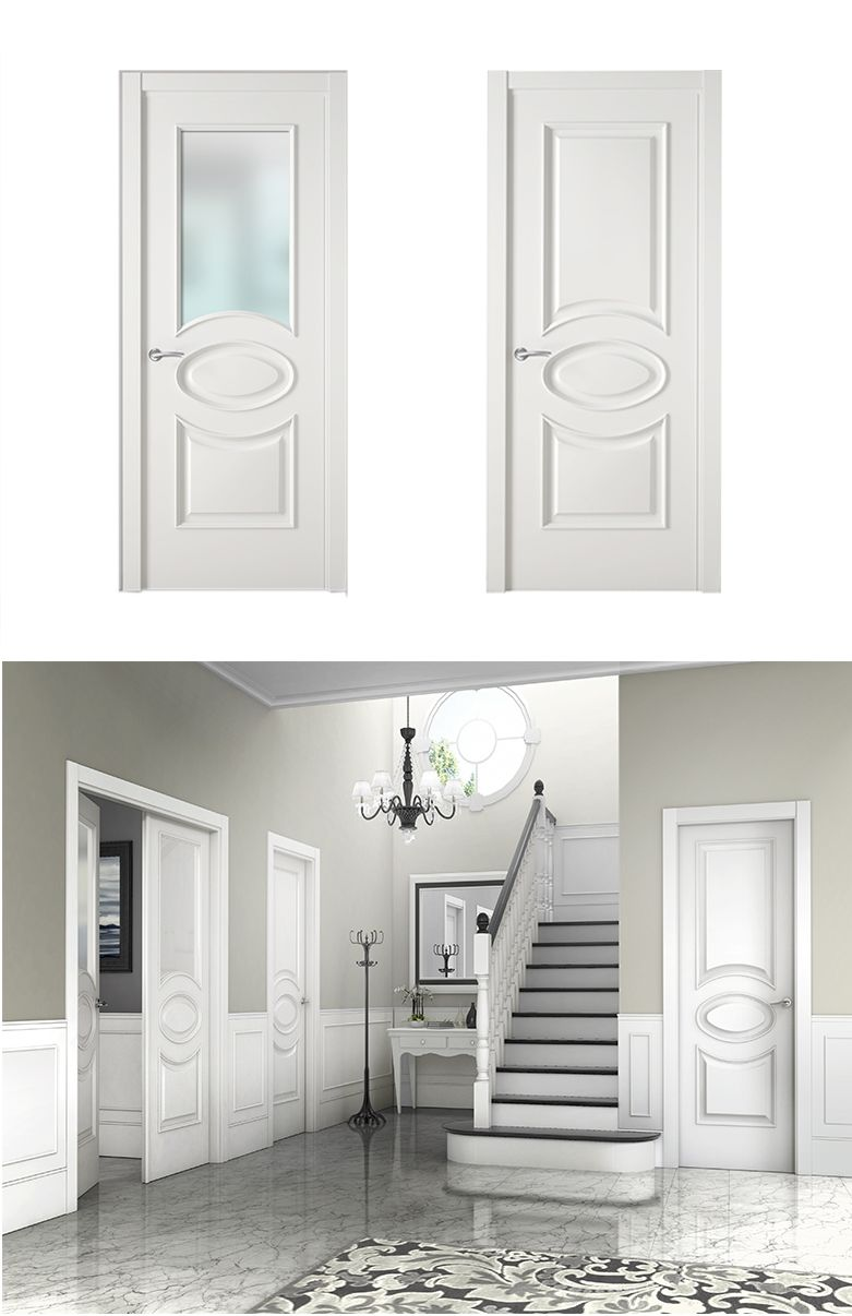 Puerta de interior blanca modelo viol n x de la serie for Puertas interiores blancas