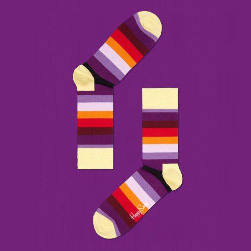 Stripe Socks : Purple