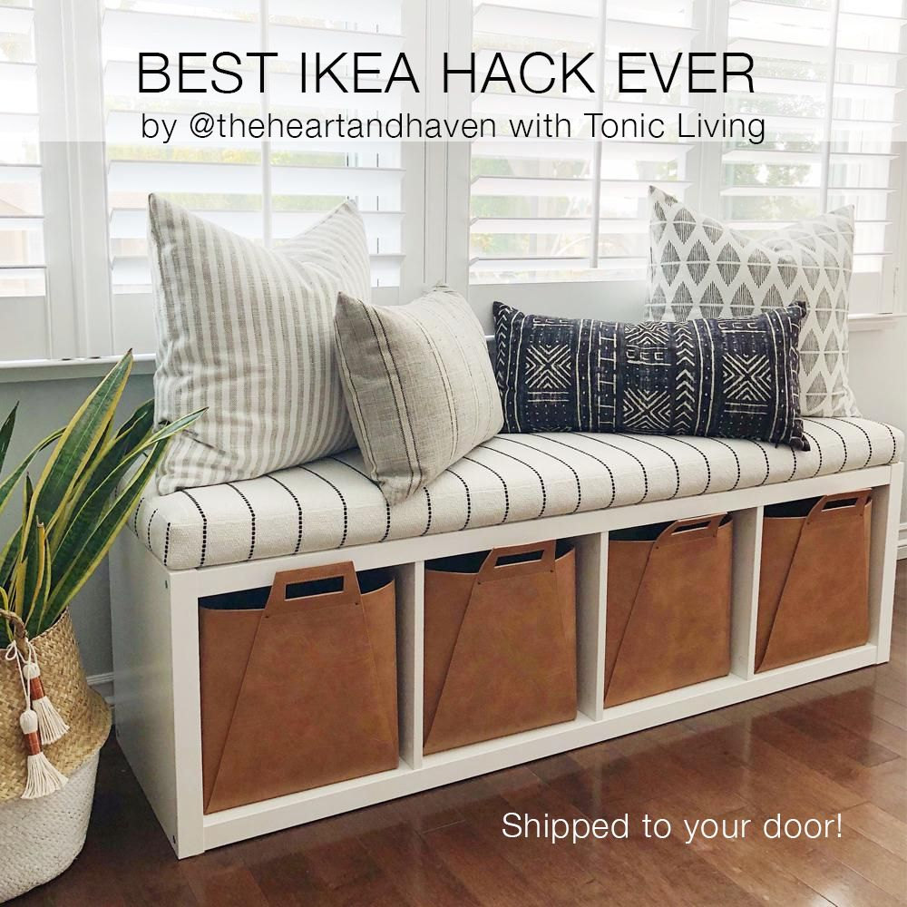 Get A Premium Bench Seat Cushion To Convert Your Kallax Bookshelf Into Storage Click On Image Order Yours From Tonic Living