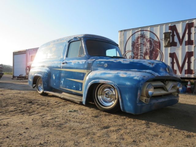 1955 Ford F100 Panel Truck 53 54 Hot Rod Rat Lowrider Pick Up Chevy Disc Brakes For Sale In Atascadero California Un Panel Truck 56 Ford Truck Classic Trucks