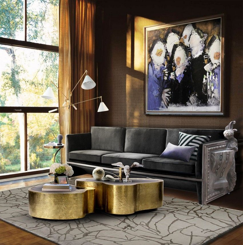 Wave Center Table Modern Interior Design Living Room Designs